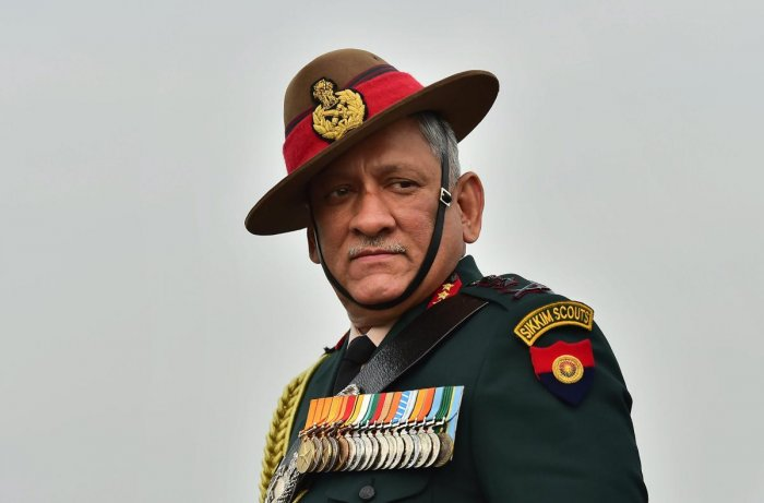 Outgoing Army Chief Gen Bipin Rawat. (PTI file photo)