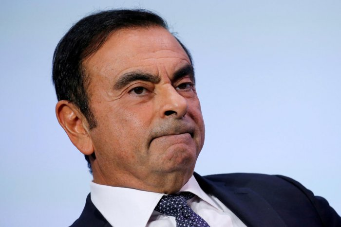 Carlos Ghosn, chairman and CEO of the Renault-Nissan-Mitsubishi Alliance, attends at the Tomorrow In Motion event on the eve of press day at the Paris Auto Show, in Paris, France, October 1, 2018. (Reuters Photo)