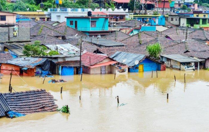 Gonikoppal in Kodagu is flooded