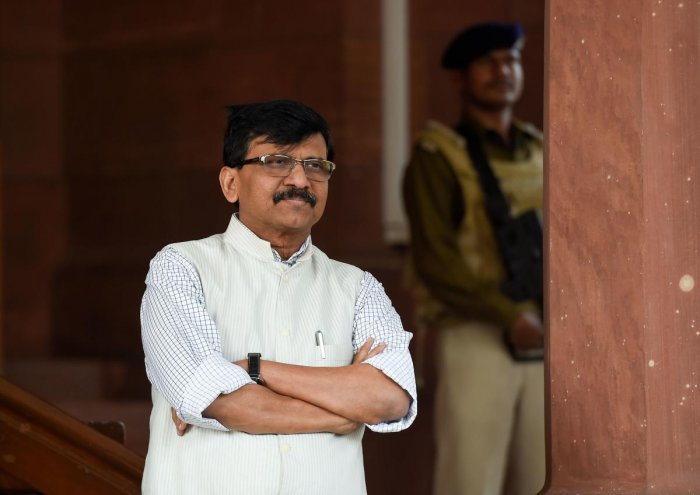 Shiv Sena MP Sanjay Raut at Parliament House during the ongoing Winnter Session, in New Delhi, Thursday, Nov. 21, 2019. (PTI Photo)