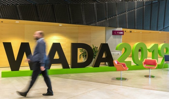 A man walks at the World Anti-Doping Agency (WADA) venue. (Reuters Photo)