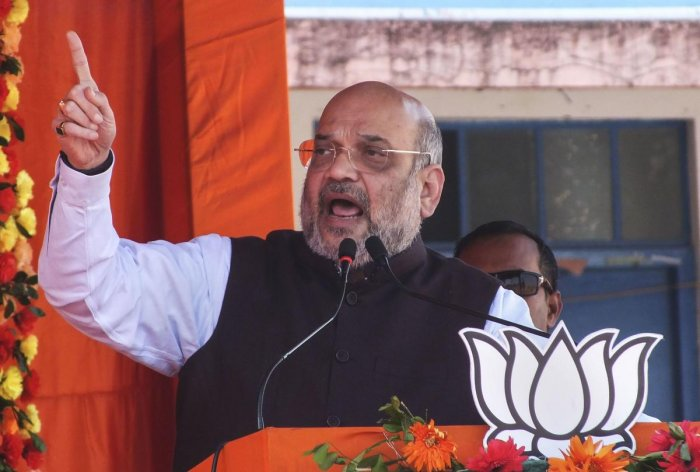 """BJP President Amit Shah, who had last week accused the Opposition of having spoilt the peaceful atmosphere of Delhi and asked Delhi voters to """"punish those who disturbed the peace"""" of the city, will hold interaction with all both workers on January 5. PTI file photo"""