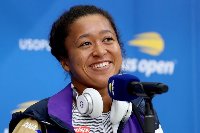 Naomi Osaka of Japan fields questions during a press conference at media day prior to the US Open at USTA Billie Jean King National Tennis Center. AFP photo
