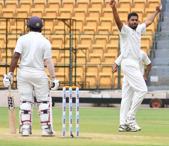 Avesh Khan (right) has overcome adversity to make it big in cricket. DH PHOTO