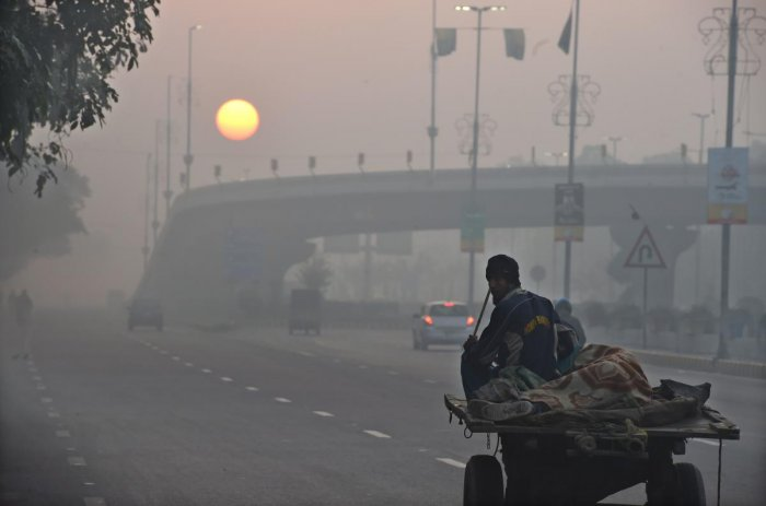 The year also saw pollution levels spiking and rise in sea level with several reports coming out as warnings for the country to brace for the climate change impact. (Photo by AFP)