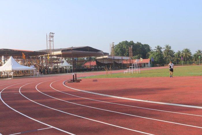 Swaraj Maidan in Moodbidri ready for hosting all India inter-university athletic championship.