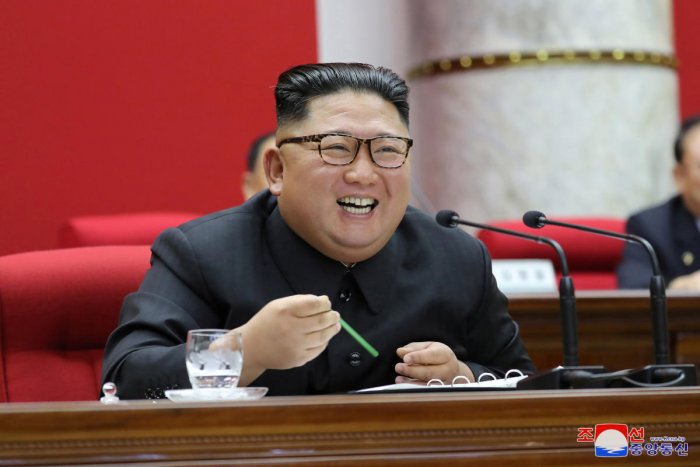 """""""There is no ground for us to get unilaterally bound to the commitment any longer,"""" the official KCNA news agency cited him telling ruling party officials. Photo/Reuters"""