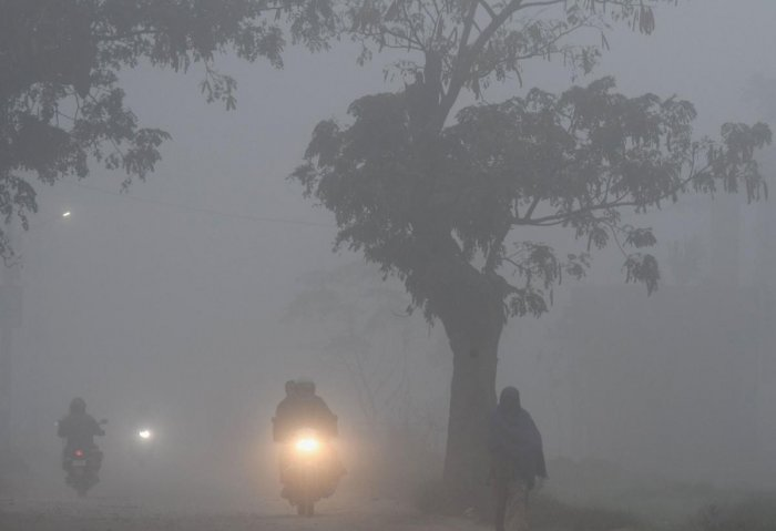 Union Territory Chandigarh, the joint capital of Punjab and Haryana, recorded its minimum of 3.5 degree Celsius, two degrees below normal. Photo/PTI