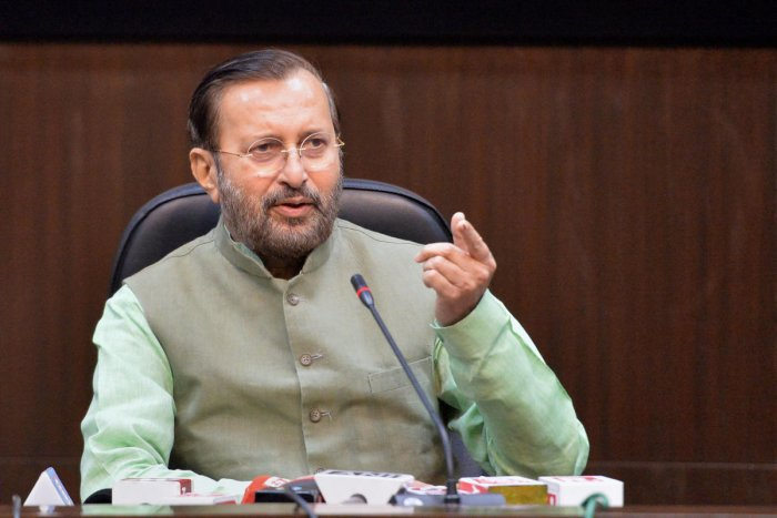 """""""Congress and AAP are responsible for it (violence). They must apologise to the people,"""" said Javadekar Photo/PTI"""