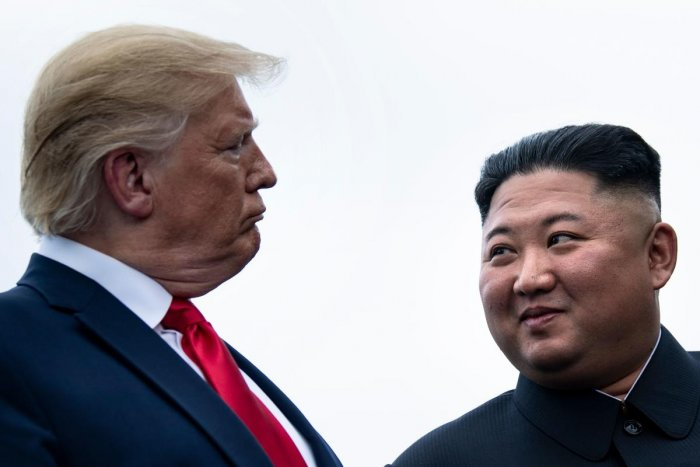 """The two adopted a vaguely worded statement on """"complete denuclearisation of the Korean peninsula"""" and agreed to """"establish new US-DPRK relations"""". Photo/AFP"""