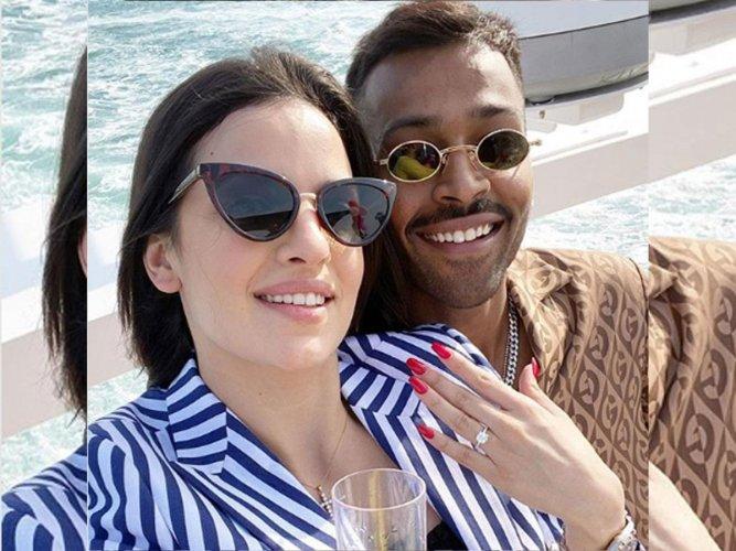 Hardik Pandya engagement. (DH photo)