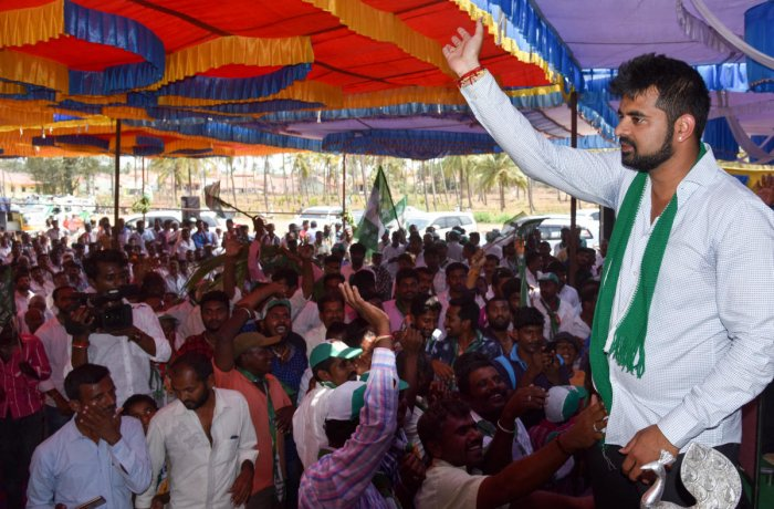 First-time MP from Hassan Prajwal Revanna was present only for 22 of the 57 days. Photo: B H Shivakumar