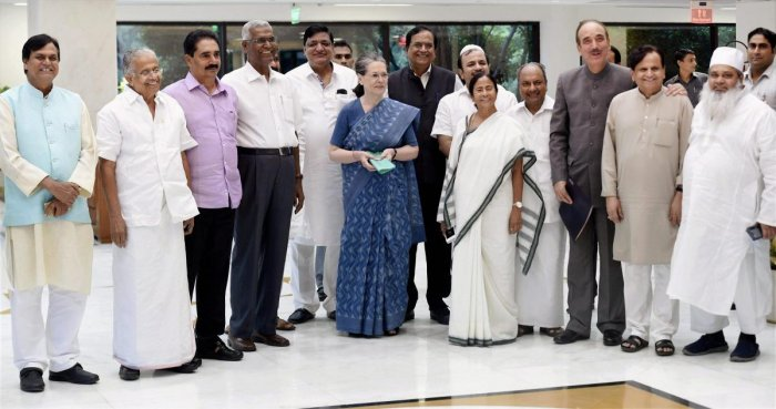 The fact that the TMC supremo shared the dais with Sonia Gandhi at the swearing in ceremony of Jharkhand Chief Minister Hemant Soren has also put the Bengal Congress leaders in a spot. (PTI File Photo)