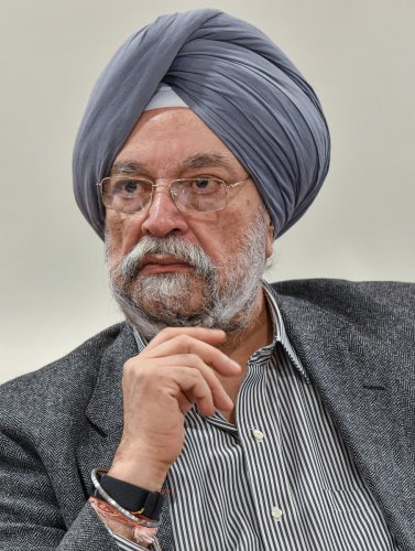 Housing and Urban Affairs Minister Hardeep Singh Puri during a press conference, in New Delhi, Monday, Dec. 9, 2019. (PTI Photo)