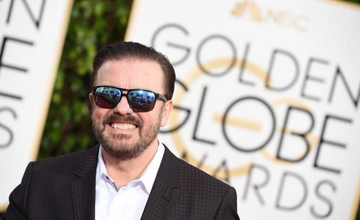 Ricky Gervais, who is set to host the Golden Globes this Sunday, has promised to let the barbs fly. (Photo Credit: AFP)