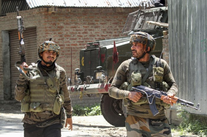 Defence spokesman Lt Col Devender Anand, while confirming the incident, said the blast took place during patrolling in forward area along the LoC in Kalal area of Nowshera sector. Representative Image/PTI