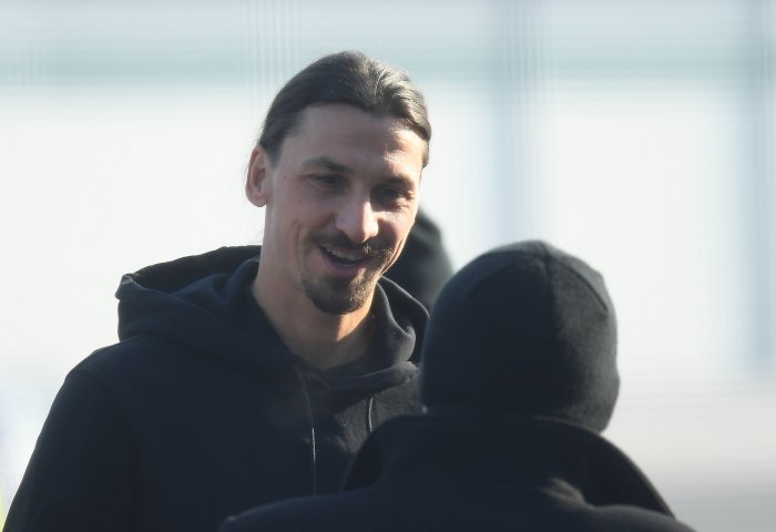 """""""I'm ready and I really hope I can play,"""" said the 38-year-old Ibrahimovic. (Reuters Photo)"""