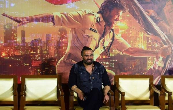 Bollywood actor Sunil Shetty poses for photographs during the trailer launch of the upcoming Hindi-Tamil-Telgu language action thriller film 'Darbar' in Mumbai on December 16, 2019. Credit: Sujit Jaiswal/AFP