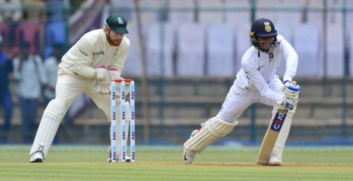 An argument with the umpire followed and the batsman was reinstated after a discussion between the on-field officials. (DH photo)