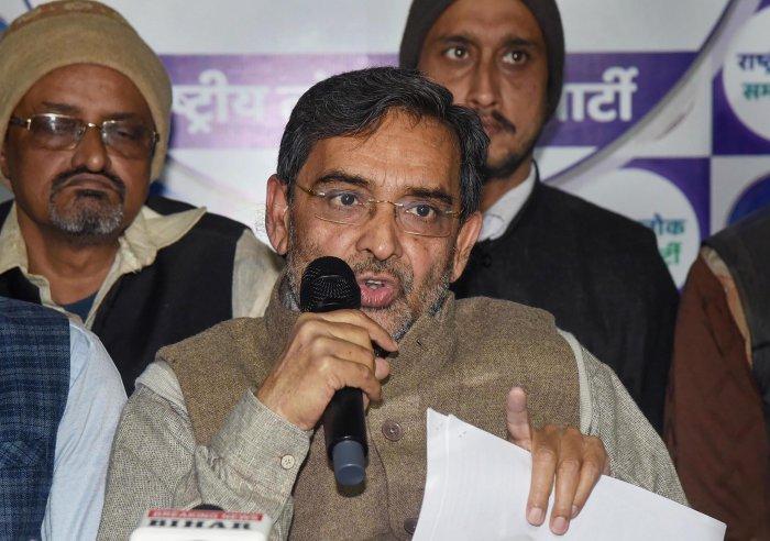 Rashtriya Lok Samta Party (RLSP) President Upendra Kushwaha. (PTI Photo)