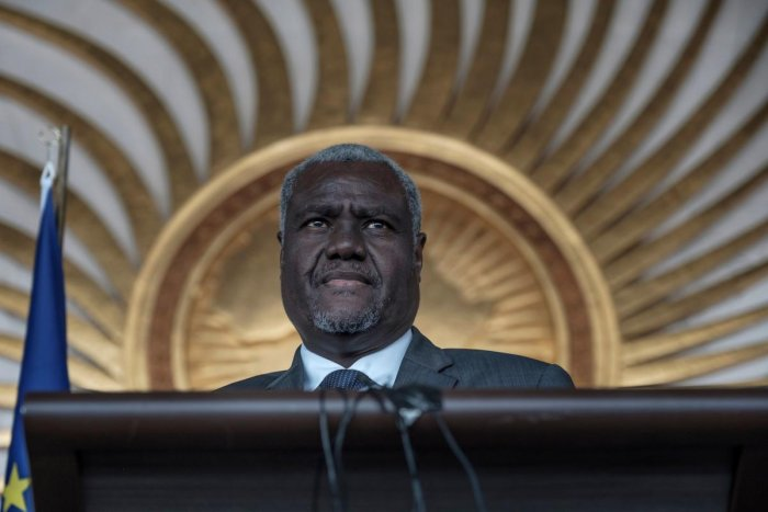 The Chairperson of the African Union, Moussa Faki Mahamat (Photo Credit: AFP)
