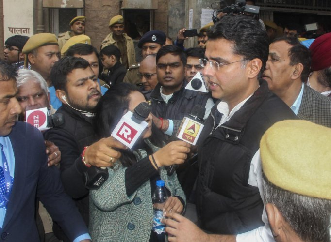Deputy CM Sachin Pilot, who visited the hospital and met victims, told reporters that the government could have been more sensitive in its response and there is no point blaming the previous government. (PTI Photo)