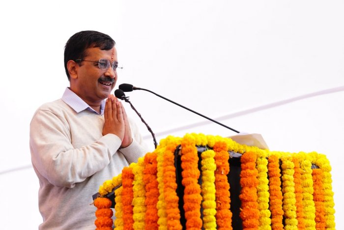 Aam Aadmi Party, led by Kejriwal, is banking on its delivery on the 'free water' promise to return to power for another five years, while the Modi government appears determined to corner him on the quality of water in the national capital. Photo/Twitter (@ArvindKejriwal)