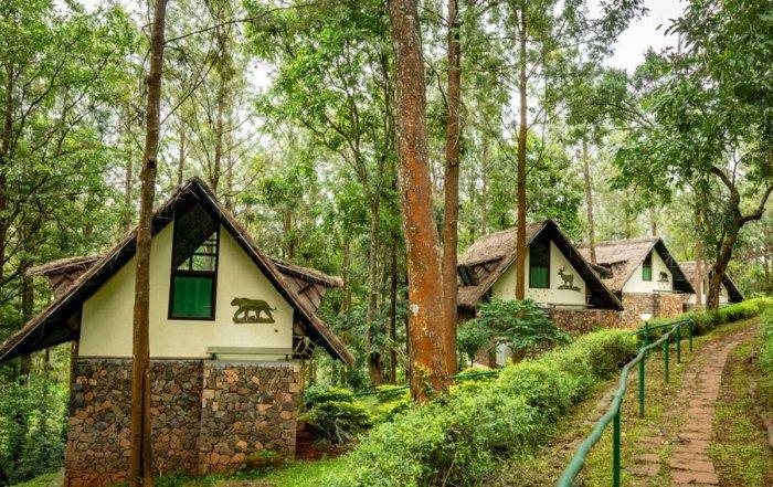 The buildings constructed at the Ayurveda Treatment Centre, at Biligiri Ranga village, in Chamarajanagar district.