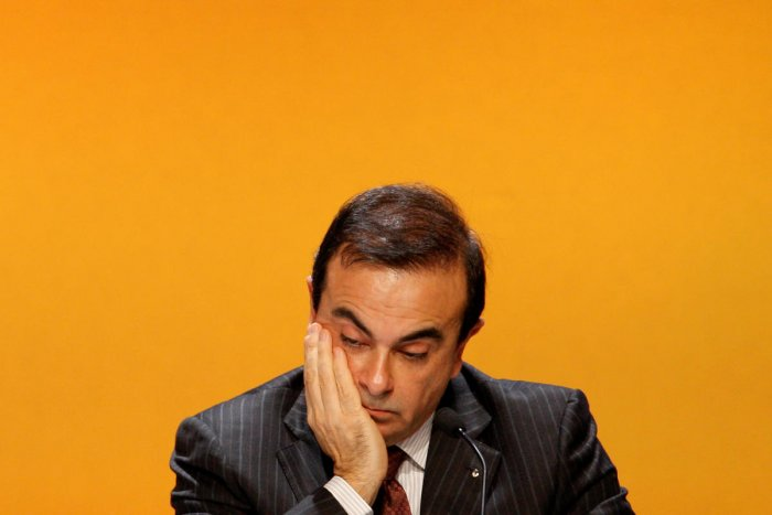 Carlos Ghosn, President and Chief Executive Officer of Renault, attends the company's annual shareholders meeting in La Defense business district, near Paris, April 29, 2008. (Reuters Photo)