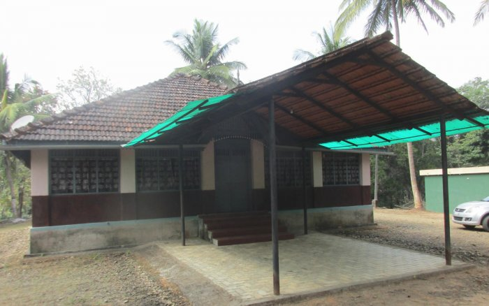 The guesthouse built by the Forest Department in 1912 at Chikka Agrahara of Narasimharajapura taluk.