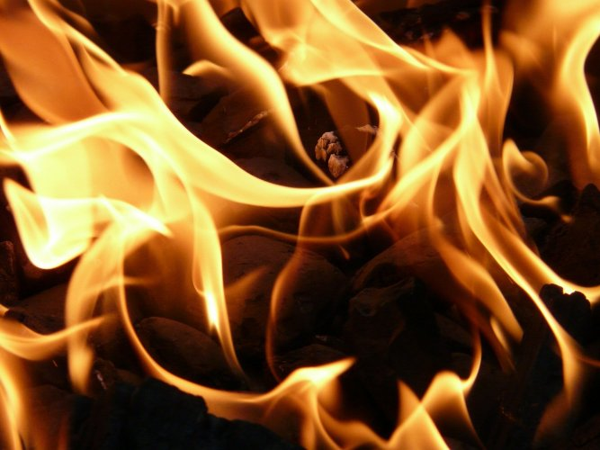 Jyotappa was lying on the ground with 95% burns when passersby rushed him to hospital. Representative image/Pixabay