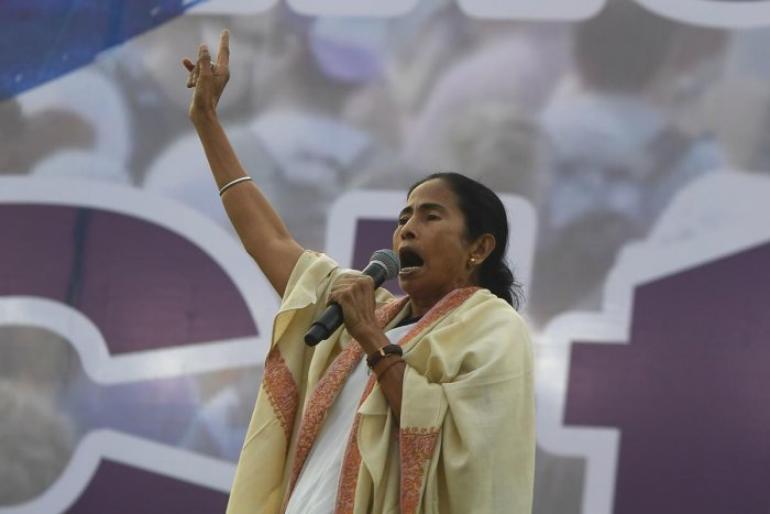 Chief minister of West Bengal state and leader of the Trinamool Congress (TMC) Mamata Banerjee. (Credit: AFP)