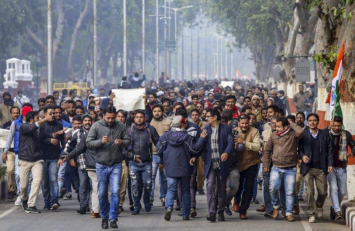 Members of Aligarh Muslim University. (PTI Photo)
