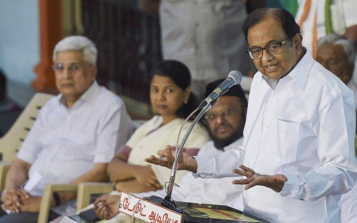 Former Home Minister P Chidambaram. (PTI Photo)