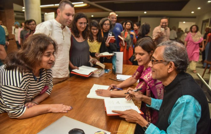 Banerjee was in the city for the Bengaluru-launch of his book Good Economics for Hard Times. DH Photo