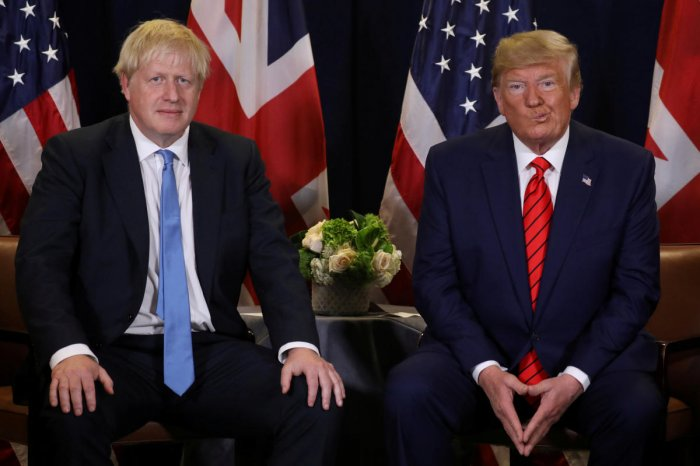 U.S. President Donald Trump holds a bilateral meeting with British Prime Minister Boris Johnson on the sidelines of the annual United Nations General Assembly in New York City, New York, U.S., September 24, 2019. (Reuters Photo)