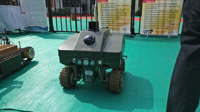 The 'Sentry' robot built by DRDO's CAIR lab.