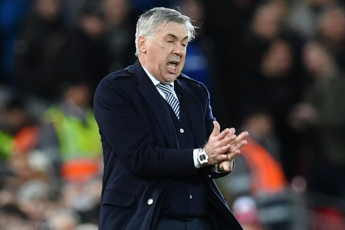 Ancelotti had sent out a virtually full-strength team, but they wasted a host of chances in the first half before surrendering limply after the break. (Photo Credit: AFP)