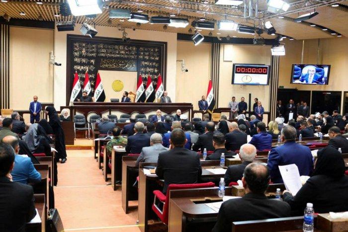 Iraqi Prime Minister Adel Abdul Mahdi attends an Iraqi parliament session in Baghdad, Iraq January 5, 2020. (Reuters Photo)