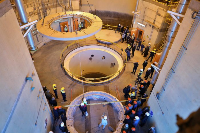 In this handout file picture provided by Iran's Atomic Energy Organisation on December 23, 2019 shows the the nuclear water reactor of Arak, south of capital Tehran. (AFP Photo)