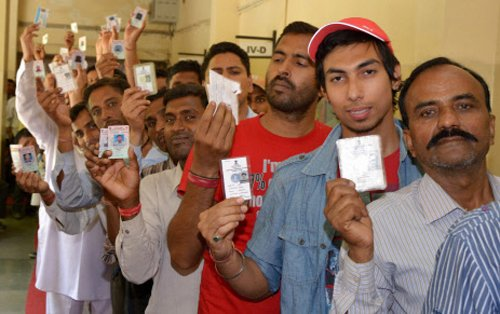 Amritsar trails as 55 percent vote in Punjab
