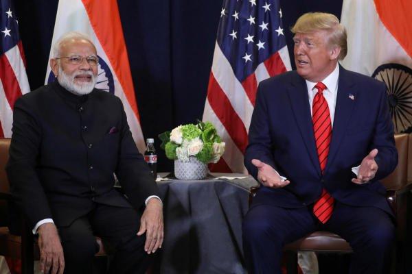 Prime Minister Narendra Modi and the US President Donald Trump. (Reuters photo)