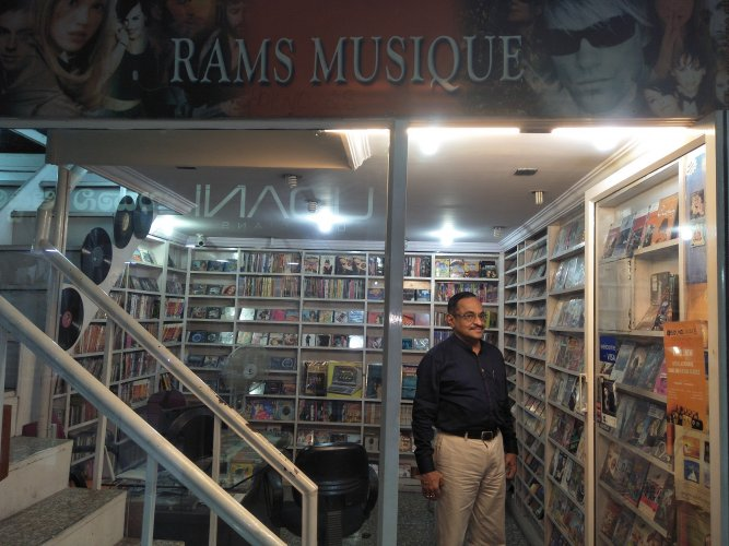 Ramchandran at his Rams Musique store.