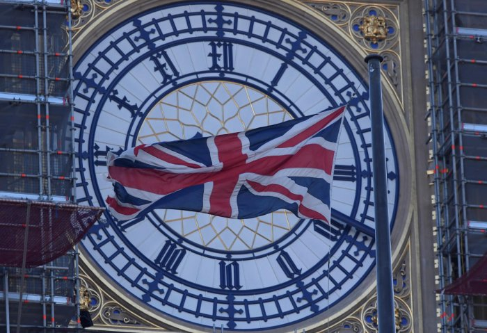 A face of the Big Ben clock tower is seen at The Houses of Parliament in London