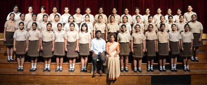 The school's choir comprising 46 students, under the able guidance of Abishek Gnanaraj, has successfully cleared the advanced level choral exam conducted by the Associated Board of the Royal Schools of Music (ABRS) recently.
