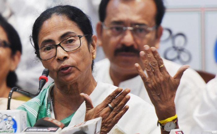 """""""I am very happy to share the new music video Maa, Mati, Manush for the forthcoming Lok Sabha Elections. Banerjee said in a post. AFP File photo"""