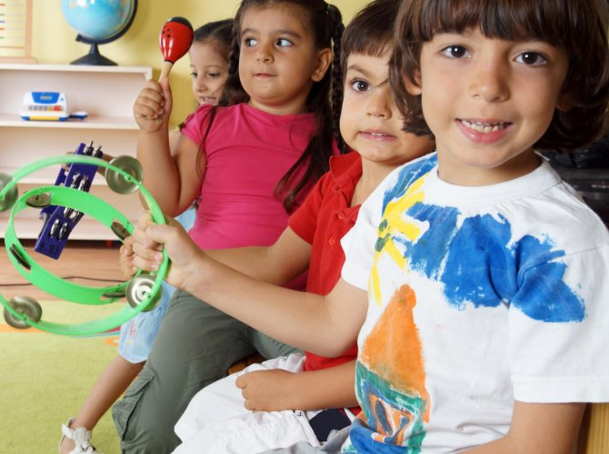 Behaviour Cue Incorporation of music in learning increases the learning abilities of a child.