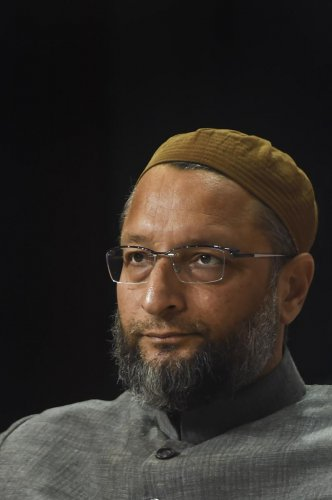 All India Majlis-e-Ittehadul Muslimeen (AIMIM) President Asaduddin Owaisi during the Lokmat National Conclave in New Delhi, Tuesday, Dec. 10, 2019. (PTI Photo)