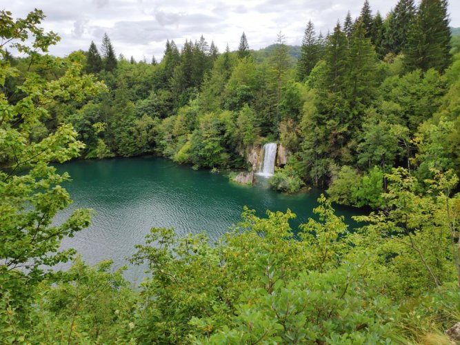 Sights while hiking in Plitvice National Park in Croatia - the longest trail is over 18km and takes around 8 hours to hike.