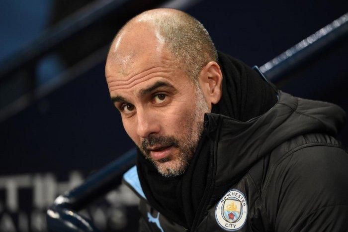 Manchester City manager Pep Guardiola. (AFP Photo)